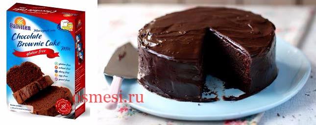 Шоколадный кекс из готовой смеси