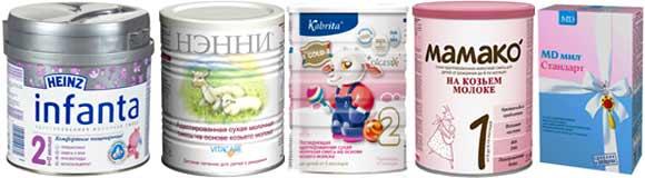 Адаптированные детские молочные смеси
