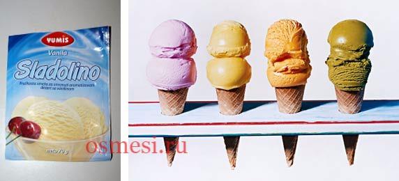 Замораживание готовой смеси и мягкого мороженого
