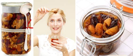 Витаминная смесь курага мед грецкий орех