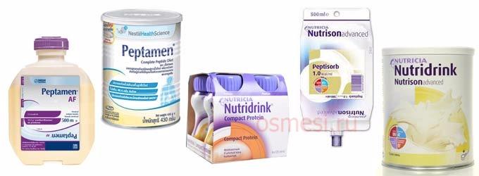 Популярные смеси для взрослых для увеличения веса