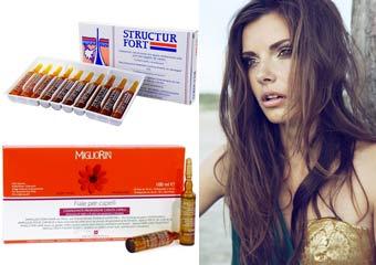 Смеси витаминов Е для волос
